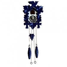 quartz al cuckoo clock blue