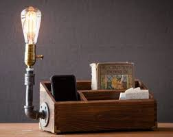 desk accessories for men. Modren Men Desk Organizer LampGift For MenHome DecorSteampunk Table LampIndustrial  LampSteampunk Lighthousewarming Giftdesk Accessories Inside Accessories For Men E