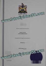 University Diploma Kingston Buy Of fakediploma58 University Sample Fake