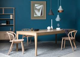romana extending dining table with the flow chair