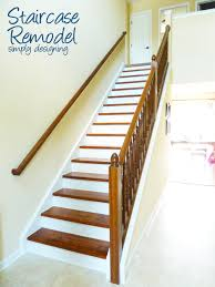 staircase remodel step by step instructions on how to rip up carpet and refinish wood