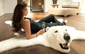 polar bear skin rug style taxidermy