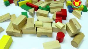 Bộ xếp hình xây dựng 100 chi tiết bằng gỗ cho bé - YouTube