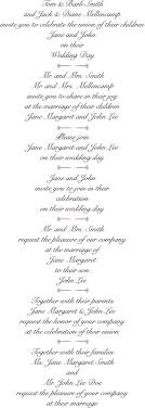 Sample Of Weeding Invitation Best Wedding Invitation Wording Examples