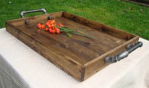 Industrial Looking Coffee Tables Industrial Style Ottoman Tray Rustic Ottoman Tray Wooden