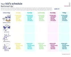 Kids Daily Routine Chart Template Info Free Checklist Literals Ie11