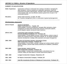 Free Construction Resume Templates 10 Construction Resume Templates Free Samples Examples