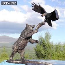 size animal statue bronze bear statue