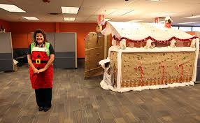 gingerbread house example office cubicle roof38 office