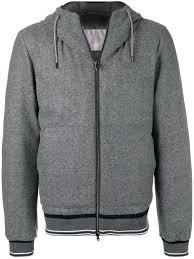 herno padded hooded jacket grey men clothing jackets