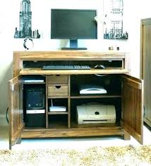oak hidden home office. Hidden Office Desk Furniture Home Medium Image For . Oak