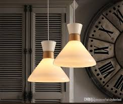 2016 nordic glass chandelier white milk glass lampshade dia33 h32cmdining room japanese wooden chandelier hanging light home art decoration modern pendant