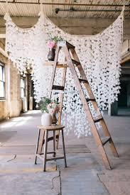 Wax Paper Flower Diy Wax Paper And Vintage Ladder Wedding Backdrop Deer