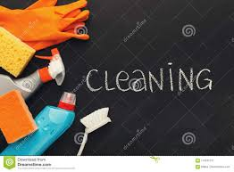 Cleaning Supplies And Products For Home Tidying Up Stock Image
