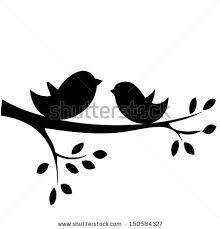 bird branch silhouette clip art.  Silhouette Birds On A Branch Silhouette Clip Art Free  Google Search Inside Bird Branch Silhouette Clip Art S