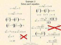 4 chapter 7 polynomial functions example 3 solve each equation glencoe algebra 2 chapter