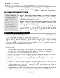 Logistics Resume Sample Sample Resume For Global Operations