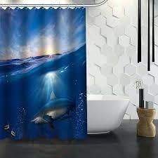 jaws shower curtain custom shark shower curtain waterproof fabric shower curtain for bathroom jaws shower jaws shower curtain
