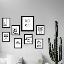 Picture Frames With Quotes Gorgeous Inspirational Quotes Wall Art Canvas Print Modern Wall Painting
