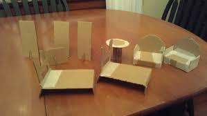 making dollhouse furniture. cardboard dollhouse furniture making