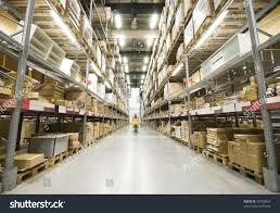 stock photo large furniture warehouse