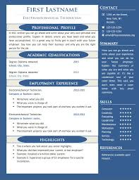 Free One Page Resume Template 1 Examples Or 2 Best Collection All