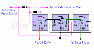 4 wire relay diagram neg trigger 4 automotive wiring diagrams wire relay diagram neg trigger radio on positive door trigger