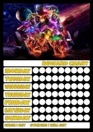 Avengers Potty Chart Avengers B Job Behavior Reward Homework Chart Free Pen