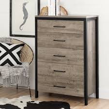 South Shore Furniture Munich Weathered Oak Laminated Particleboard