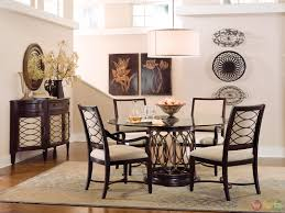 transitional round gl top table dining furniture set new round dining room
