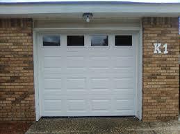 three single car garage door