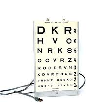 How To Use Sloan Eye Chart Vision Eye Chart Illuminated Vintage By Happyfortunevintage