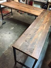 wood desks for office. l shaped desk reclaimed wood industrial by guicewoodworks studying tips study desks for office m