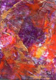 red painting small abstract painting red purple modern style multicolored colorful art by chakramoon by