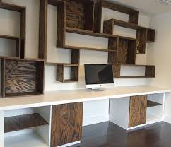 Built In Desk Designs Custom Built Desk And Wall Unit Our Furniture Pinterest