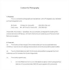 Photography Contract Template Free Free Photography Contract