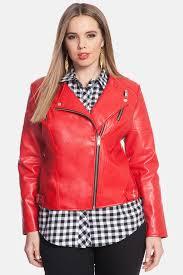 eloquiitrapunto stitch faux leather moto jacket plus size