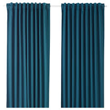 Curtains Majgull Block Out Curtains 1 Pair Blue Green 145x250 Cm Ikea
