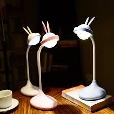 De Konijn Usb Lamp Touch Led Lamp Nachtkastje Oog Night Licht Lezen