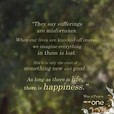 War And Peace Quotes Mesmerizing BBC One On Twitter €�As Long As There Is Life There Is Happiness