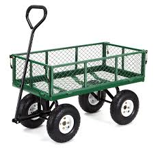 gorilla carts gor400 com steel garden cart with removable sides 400 lbs