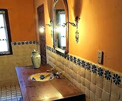 mexican bathroom sinks style bathrooms ideas wood vanity pine copper sink on a tile top home
