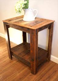 Accent Table Furniture Pallet Wood Side Tables Pallet Furniture
