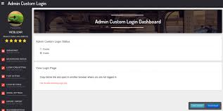 Admin Custom Login – WordPress plugin | WordPress.org