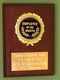 Employee Of The Month Trophy Employee Of The Month Award Plaque 4x6 Trophy Free Engraving Ebay