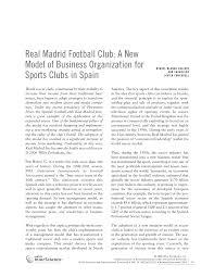 (PDF) <b>Real Madrid</b> football club: A new model of business ...