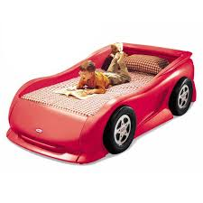 Cherry Red Race Car Bed