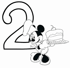 Happy Birthday Coloring Pages Disney At Getdrawingscom Free For