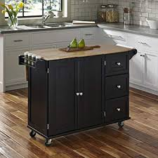 Liberty Black Kitchen Cart with Wood Top by Home ... - Amazon.com
