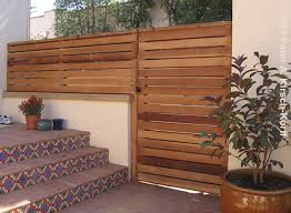 horizontal wood fence door. Los Angeles Privacy Screening With Entry Gate - Southwestern Style Angeles, CA Horizontal Wood Fence Door N